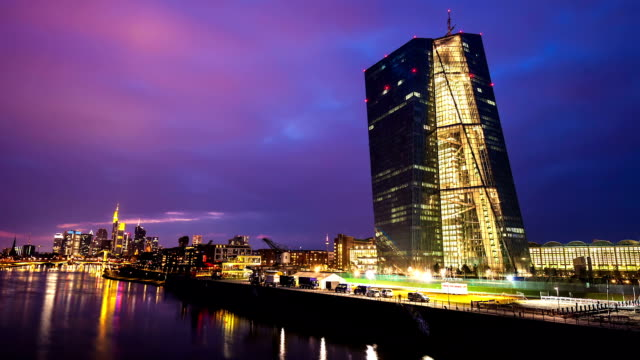 european central bank - frankfurt main stock videos & royalty-free footage