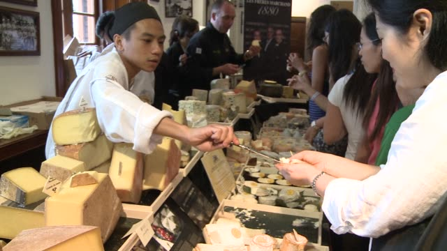 european cheesemakers flock to hong kong to seduce asian palates with tailor made creations such as wasabi goat cheese during the hong kong... - wasabi stock videos and b-roll footage