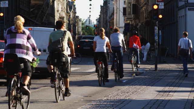 european city scene - copenhagen stock videos and b-roll footage