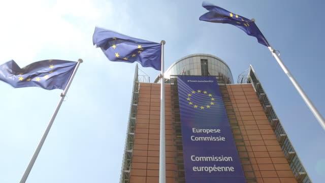 european commission building in brussels belgium on wednesday june 27 2018 - europäische kommission stock-videos und b-roll-filmmaterial