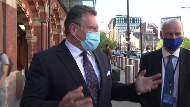 european commission vice-president maros sefcovic arrives in london ahead of talks with british brexit minister david frost to discuss britain's... - sparks stock videos & royalty-free footage