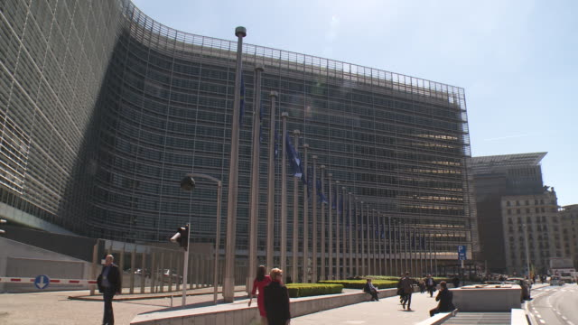 european commission - headquarters stock videos & royalty-free footage