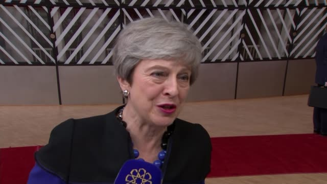 European Council meets for first time since European elections BELGIUM Brussels European Council Theresa May MP interview SOT last scheduled European...