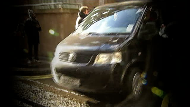 european court of human rights allow appeal of abu qatada against deportation; lib england: london: ext graphicised sequence car carrying abu qatada... - human back stock videos & royalty-free footage