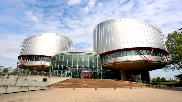 vídeos de stock e filmes b-roll de tribunal europeu dos direitos do homem, em estrasburgo - estrasburgo