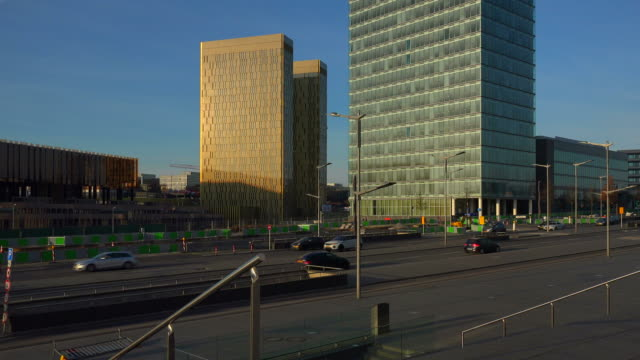 european court of justice on kirchberg in luxembourg city, grand duchy of luxembourg - giustizia video stock e b–roll