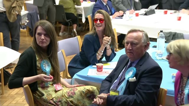 brexit party wins more meps than any other party in europe; england: int brexit party candidates sitting down - brexit party stock videos & royalty-free footage