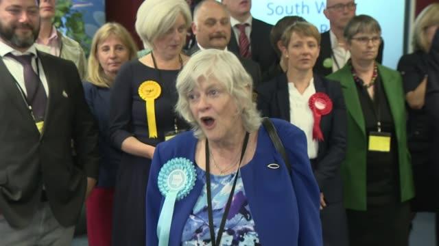 vídeos de stock e filmes b-roll de brexit party wins more meps than any other party in europe england int ann widdecombe mep speech sot northamptonshire kettering bill newtondunn mep... - northamptonshire