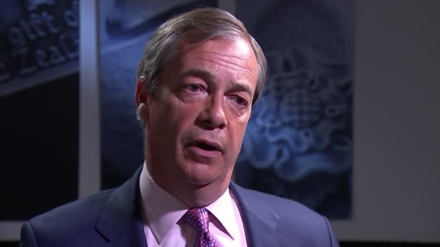 Brexit Party wins more MEPs than any other party in Europe ENGLAND London INT Nigel Farage MEP set up shots with reporter / interview SOT I'm worried...