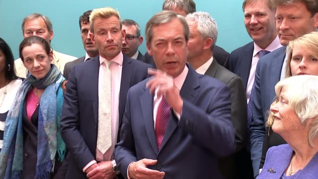 brexit party wins more meps than any other party in europe england london int nigel farage mep speaking as at photocall with richard tice mep ann... - mep stock-videos und b-roll-filmmaterial