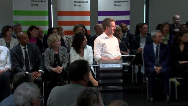 change uk campaign launch england bristol int heidi allen mp answering questions sot / chris leslie mp question and answer session sot / - heidi allen stock videos & royalty-free footage