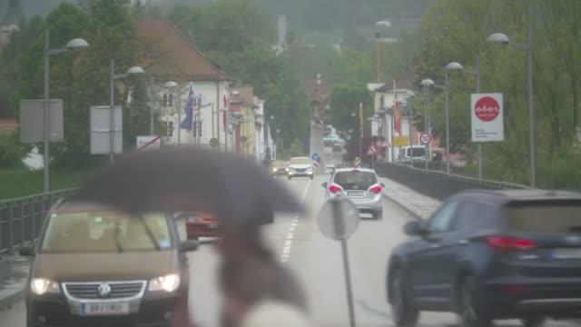 Europe's traditional parties fighting back against populism AUSTRIA Upper Austria vox pop street scenes in Braunau am Inn AUSTRIA Upper Austria EXT...