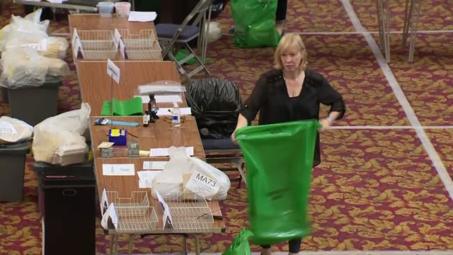 general views of ballot count in southampton england hampshire southampton civic centre southampton int various shots of people counting ballots for... - ballot slip stock videos & royalty-free footage