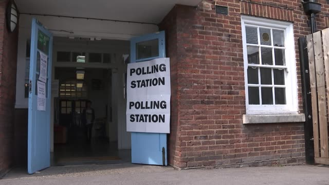 Many EU citizens in the UK turned away from polling stations ENGLAND London Haringey EXT Valentina Ferrandes arriving at poling station to vote in...