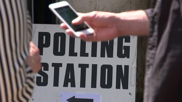 many eu citizens in the uk turned away from polling stations england london haringey ext outside polling station with joseph varga along out of... - vallokal bildbanksvideor och videomaterial från bakom kulisserna