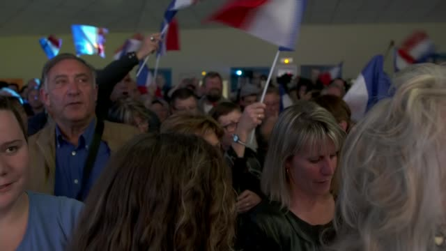 Marine Le Pen's party neck and neck with Macron FRANCE BourgogneFrancheComte Villeblevin INT Various shots Rassemblemebnt National rally