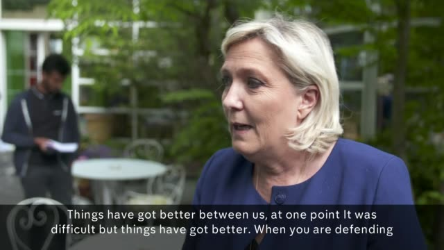 Marine Le Pen's party neck and neck with Macron FRANCE BourgogneFrancheComte Villeblevin OVERLAID*** Marine Le Pen interview SOT