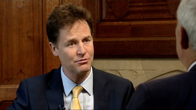 nick clegg interview england london int nick clegg mp interview sot on europe / referendum on european union / reforming europe / can't blame all our... - populism stock videos and b-roll footage