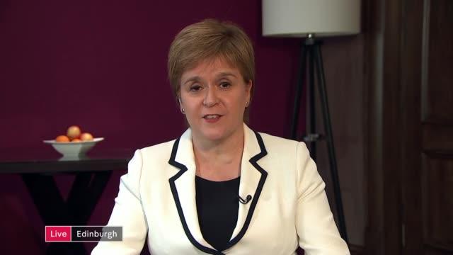 Nicola Sturgeon interview ENGLAND London GIR INT Nicola Sturgeon MSP LIVE 2WAY interview SOT re second referendum