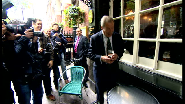 results; england: location unknown: int **beware flash photography** nigel farage mep posing as holding pint of beer and saying 'you've got to laugh'... - pint glass stock videos & royalty-free footage