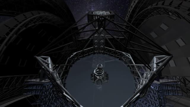 european extremely large telescope, animation. - observatorium bildbanksvideor och videomaterial från bakom kulisserna