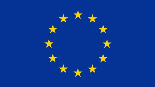 european flag - group of objects stock videos & royalty-free footage
