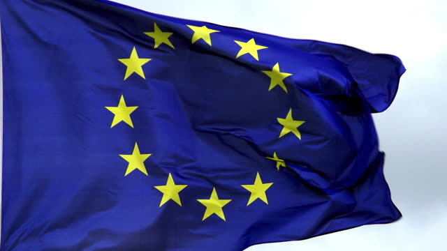 """european flag waving in the wind, slow motion"" - eu flag stock videos & royalty-free footage"