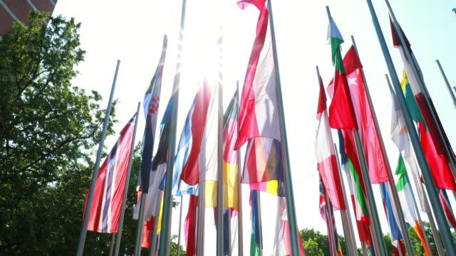vídeos y material grabado en eventos de stock de european flags - grupo de objetos