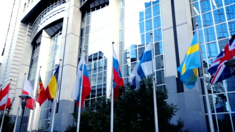 european flags - parliament building stock videos & royalty-free footage