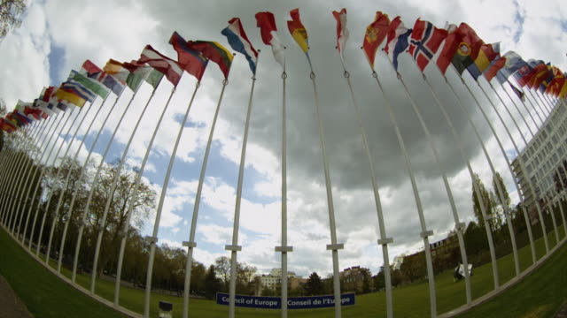 european flags - european union stock videos and b-roll footage