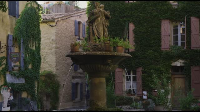 european fountain - saignon stock videos & royalty-free footage