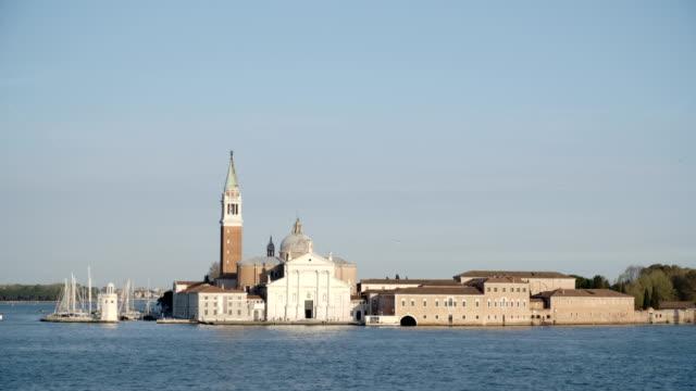 European historical buildings next to the wharf