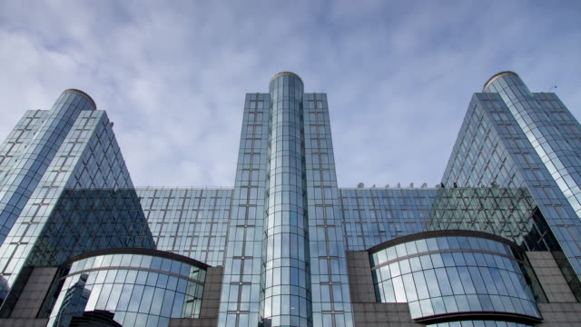 european parliament, brussels - time lapse - facade stock videos & royalty-free footage