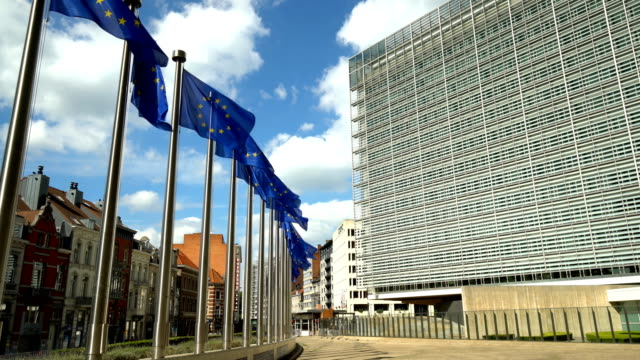 european parliament in brussels - regione di bruxelles capitale video stock e b–roll