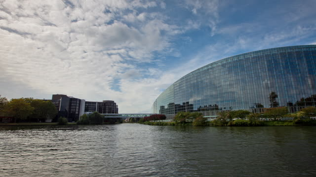 hyperlapse european parliament - law stock videos and b-roll footage