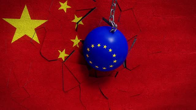 europäische union und china-krieg - 4k-entschließung - war stock-videos und b-roll-filmmaterial
