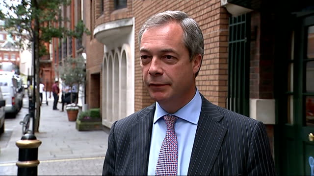 european union demands extra 17 billion pound payment from britain england london ext nigel farage mep interview sot we already pay 55 million pounds... - fee stock videos and b-roll footage
