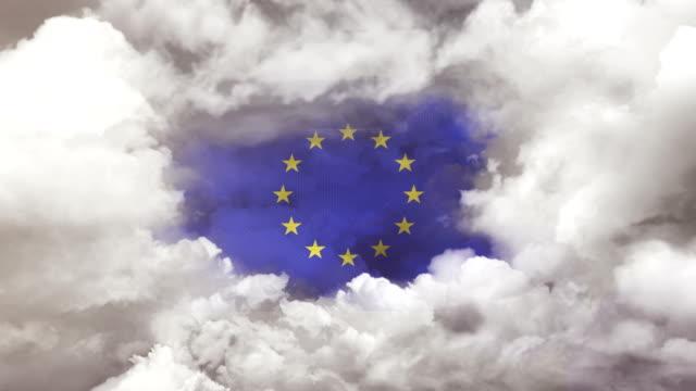 欧州連合旗 - 4k決議 - 欧州連合旗点の映像素材/bロール