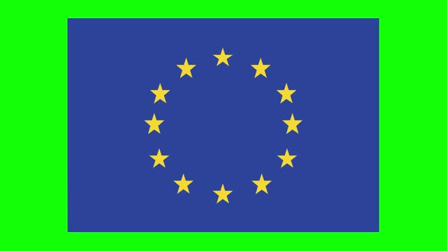 european union flag animation on green screen background, chroma key, loopable - politics icon stock videos & royalty-free footage