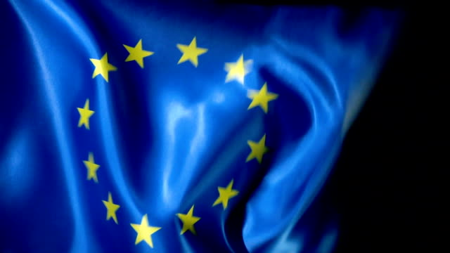 european union flag flapping - star shape stock videos & royalty-free footage