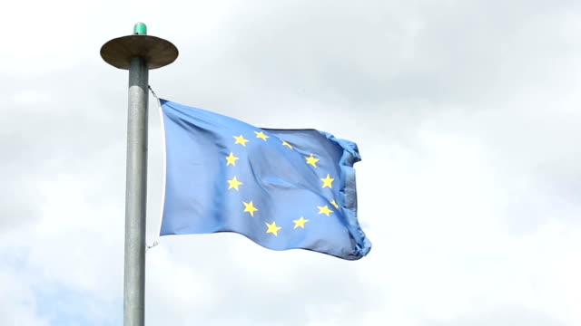 European Union Flag Flying in the wind