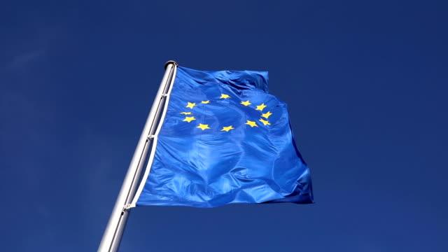 European union flag in the sky