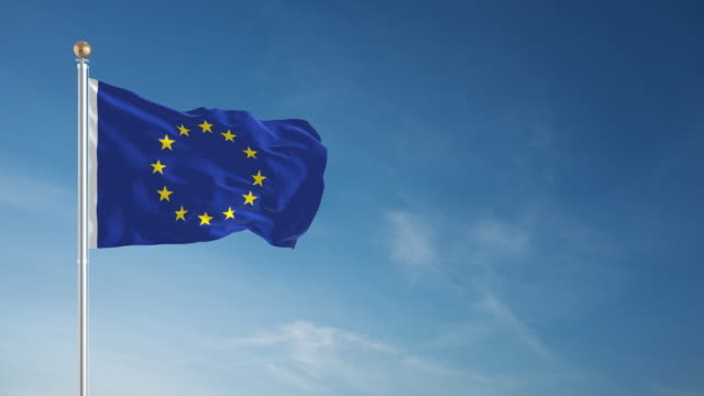 4k european union flag - loopable - europe stock videos & royalty-free footage