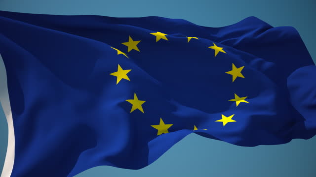 4k european union flag - loopable - european union stock videos and b-roll footage