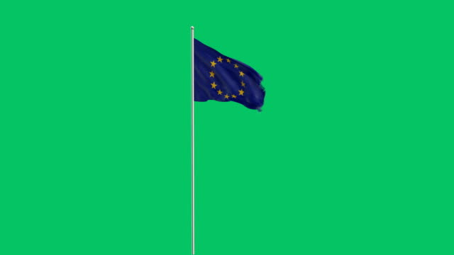 european union flag rising - european union stock videos and b-roll footage