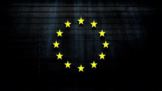 vídeos y material grabado en eventos de stock de bandera de la unión europea textura animados - papier