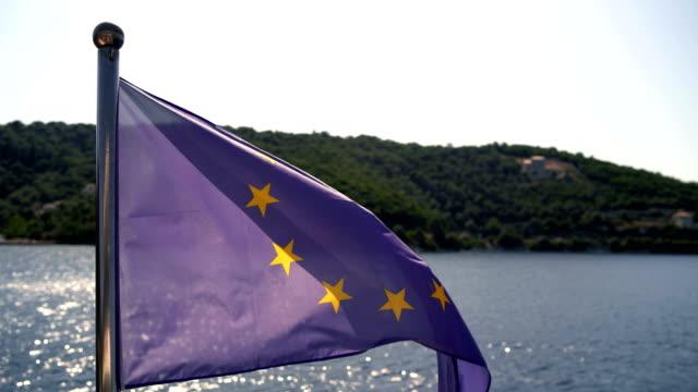 european union flag - eu flag stock videos & royalty-free footage