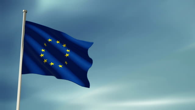 european union flag - folded stock videos & royalty-free footage