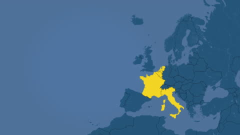 europeiska unionens tillväxt i 28 medlemsstaterna steg (i 7 grupper i tid) och brexit - kartografi bildbanksvideor och videomaterial från bakom kulisserna