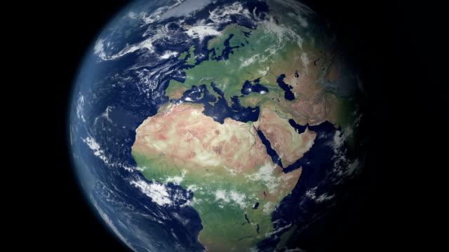 European Union  pops up after earth zoom  (alpha matte)